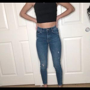 ZARA HIGH WAISTED SKINNY JEANS